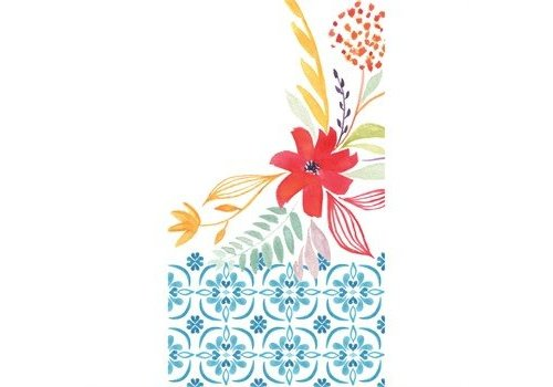 Evergreen Paper Guest Towel Watercolor Floral