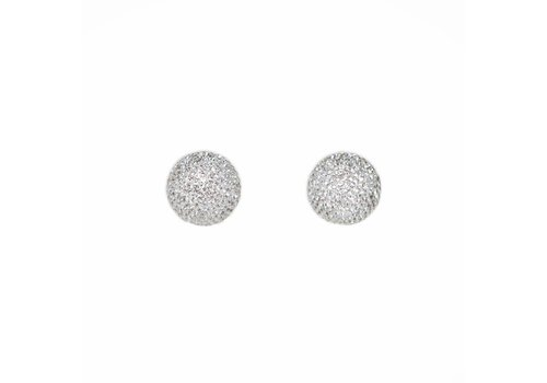 Park & Buzz Micro Pave Radiance Stud Silver