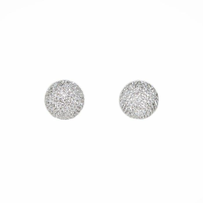 Micro Pave Radiance Stud Silver