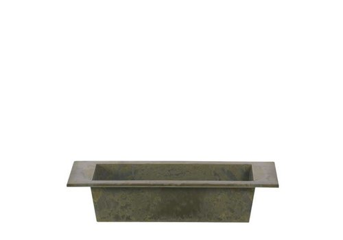 Hill's Imports Rectangle Antique Green Plastic Planter 9.75""