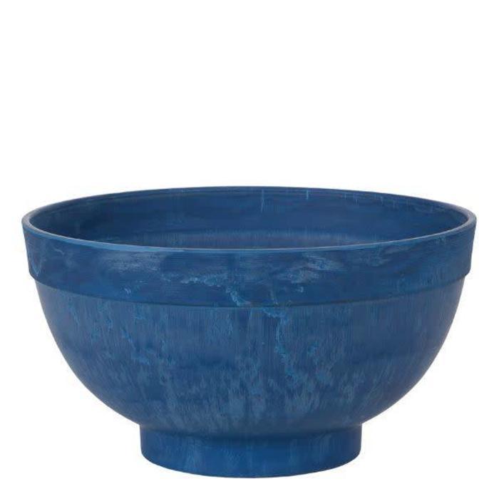 "Round Cobalt Blue Planter 19.5"""