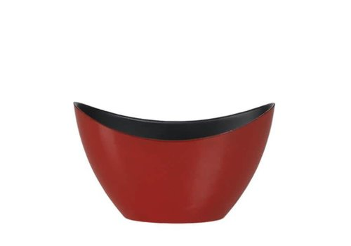Hill's Imports Oval Dark Red Plastic Planter 7.75""