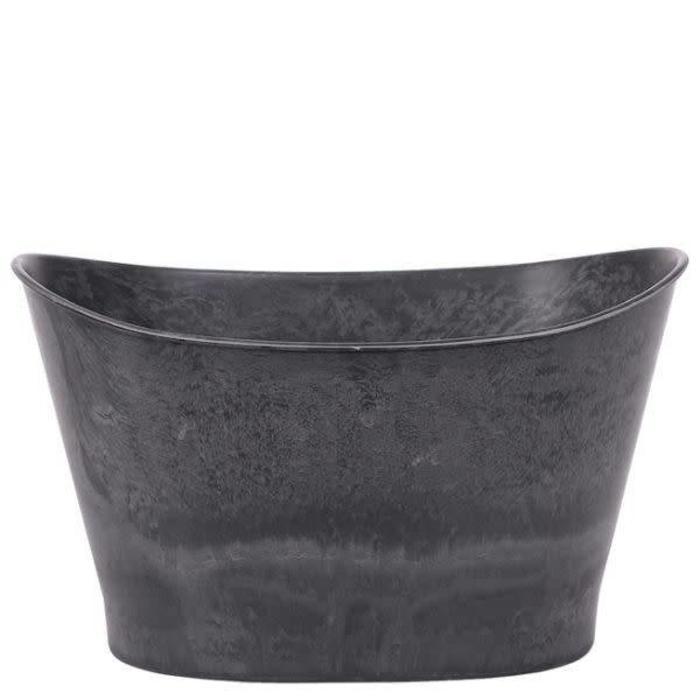 """Oval Slate Pot 12"""" x 7.5"""" x 6.25"""""""