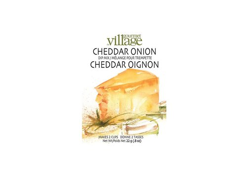 Gourmet Du Village Dip Recipe Box Cheddar Onion