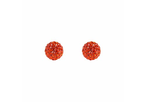 Park & Buzz Radiance Stud Burnt Orange