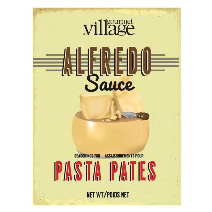 Retro Alfredo Sauce Recipe Box