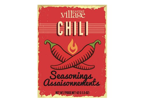 Gourmet Du Village Retro Recipe Box Chili Seasoning