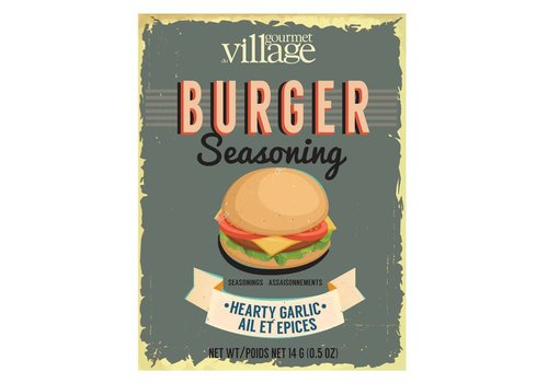 Gourmet Du Village Retro Burger Seasoning Hearty Garlic