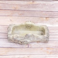 "Faux Log Planter 7.25"" x 6.5"""