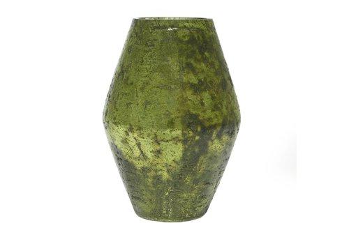 "Accent Decor Viper Vase Green 5.5"" x 7.75"""
