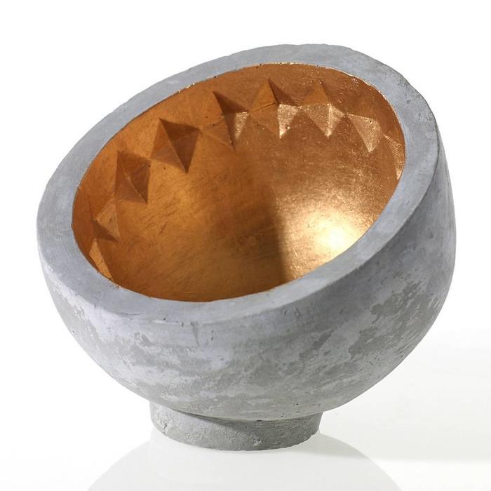 "Tessa Bowl Gold 6"" x 5.25"""