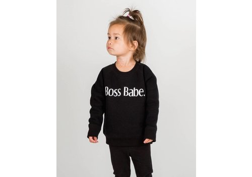 Brunette The Label Boss Babe Kids Crew