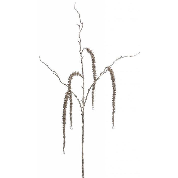 "Glittered Amaranthus Spray 38"""