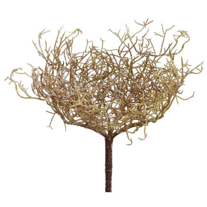 "Glittered Twig Bush 11"""