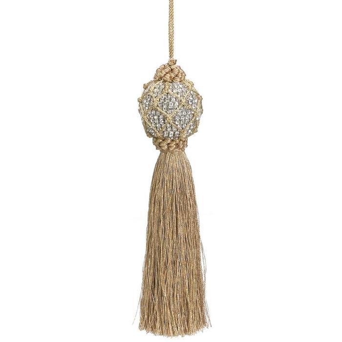 """Rhinestone Tassel Ornament 8"""""""