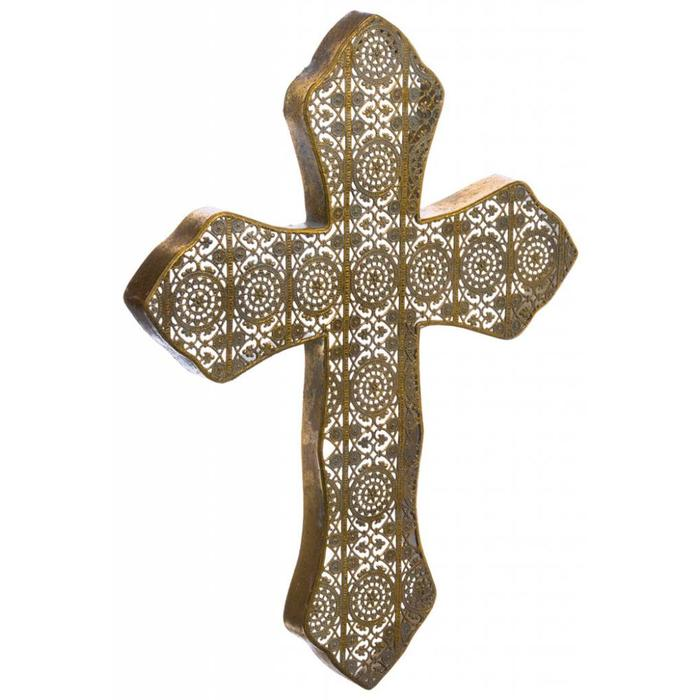 "Filigree Cross Ornament 15"" x 20.5"""
