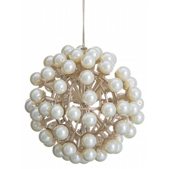 "Pearl Ball Ornament 4"""