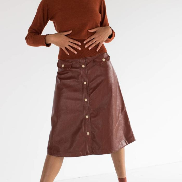 No.6 Elizabeth Snap Front Skirt