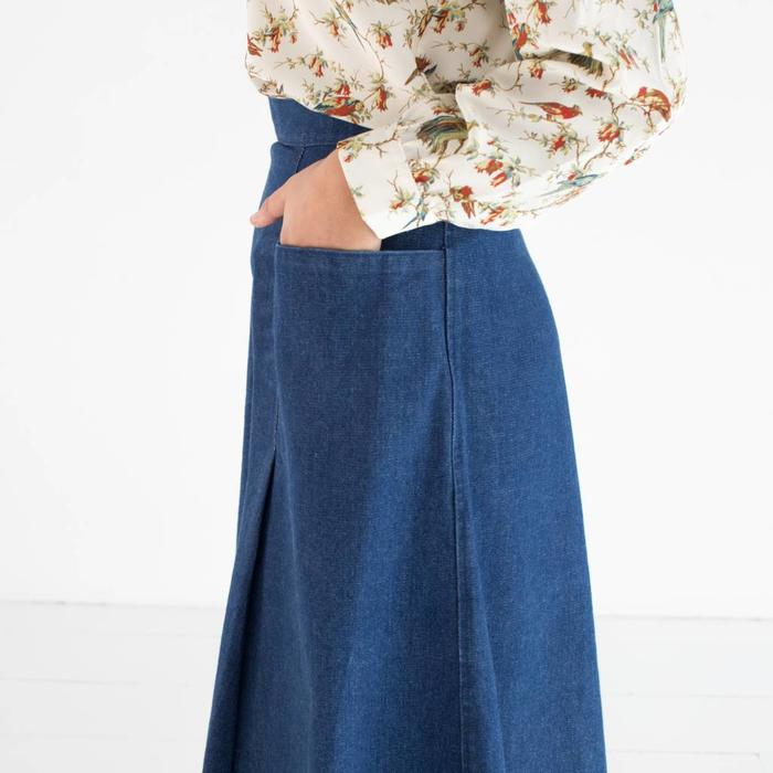 Carleen Denim Pocket Skirt