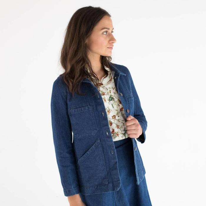 Carleen Triangle Pocket Denim Jacket