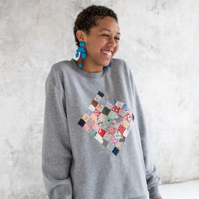 Carleen Patchwork Vintage Sweatshirt