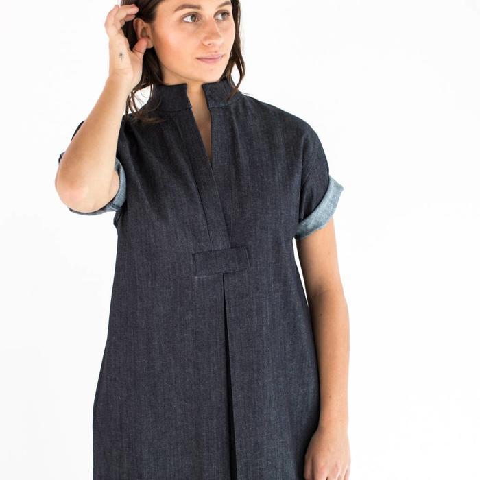 Sara Ruffin Costello Long Denim Smock Dress