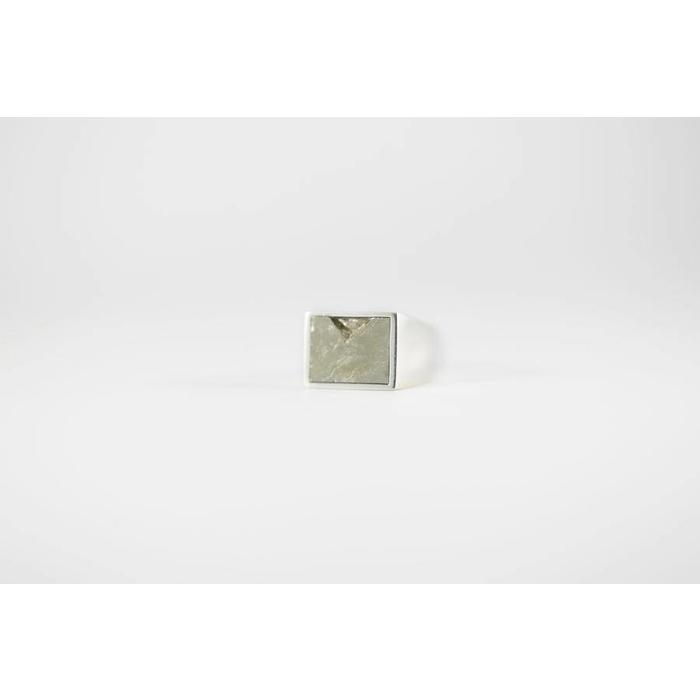 Legier Silver and Pyrite Ring