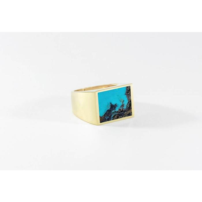 Legier Brass and Turquoise Ring