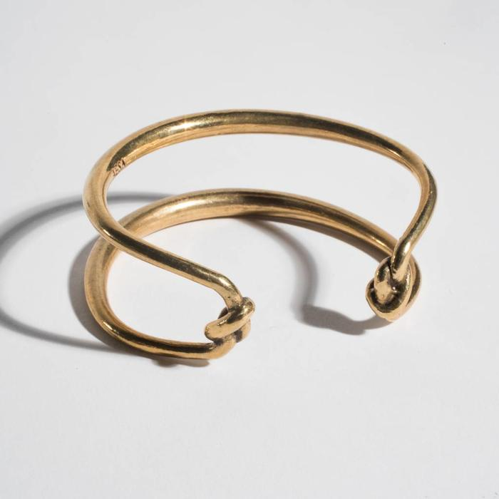 Aesa Double Knot Bangle cuff