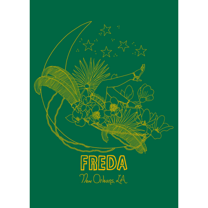 Freda New Orleans Green Tote