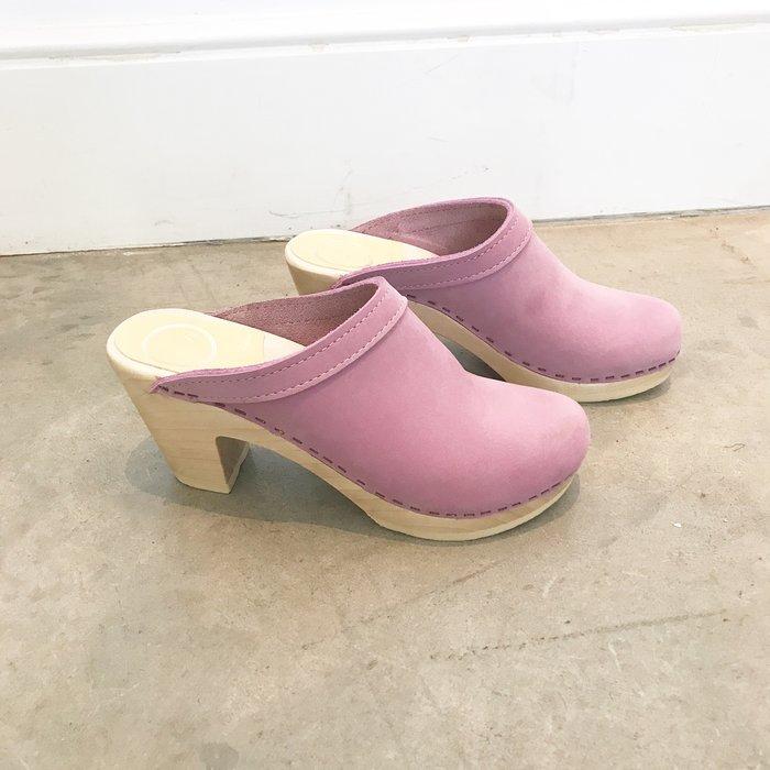 No. 6 Old School Clog High Heel Violet