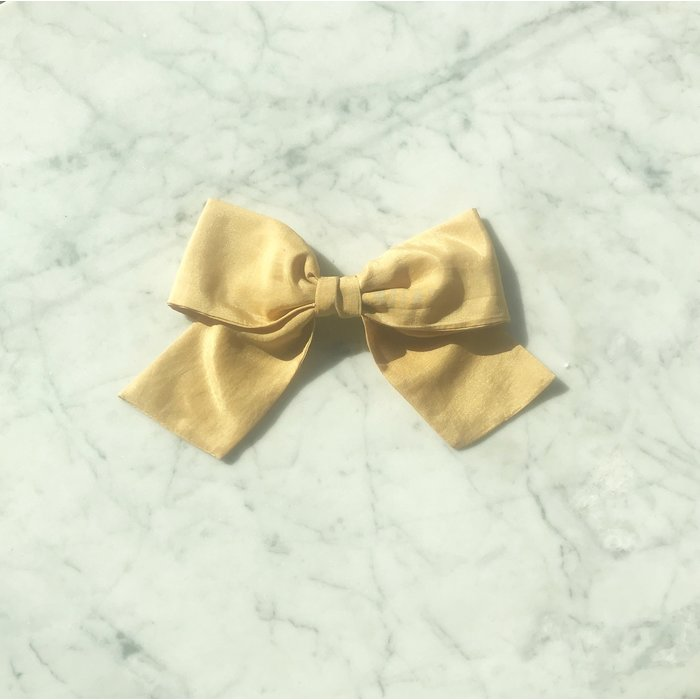 Bianca and Red Small Gold Bow