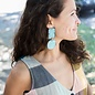 Annie Costello Brown Overt Earrings - Cyan