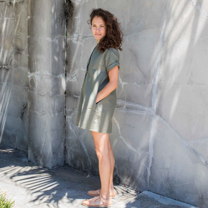 Sara Ruffin Costello Green Smock Dress