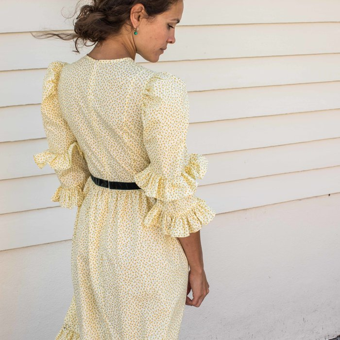 Batsheva Yellow Floral Double Dress