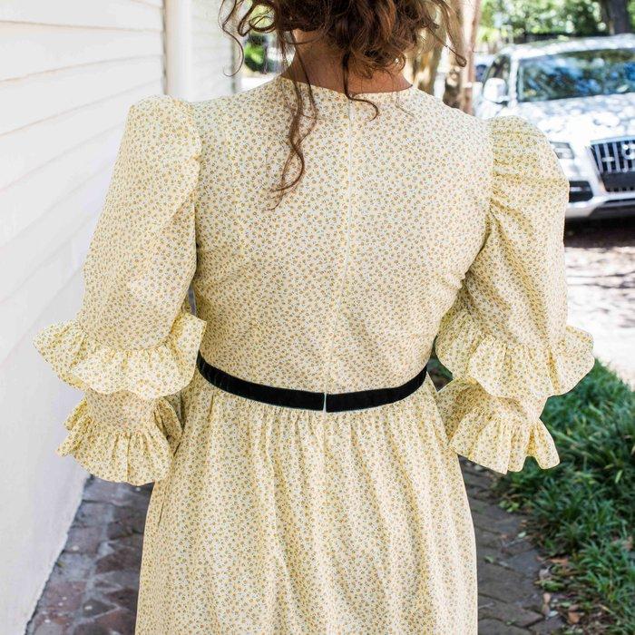 Batsheva Yellow Floral Double Dress