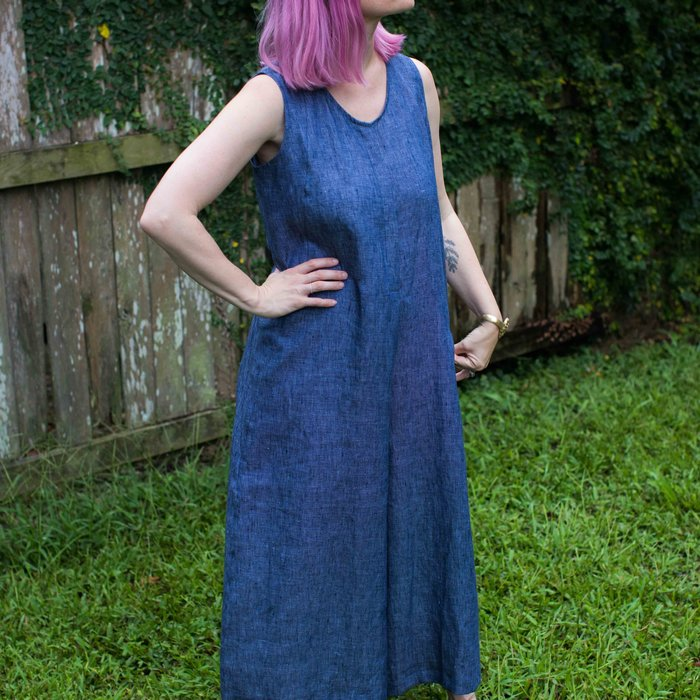 Hell Bitch - Pure Linen Wide Leg Dungarees S/M