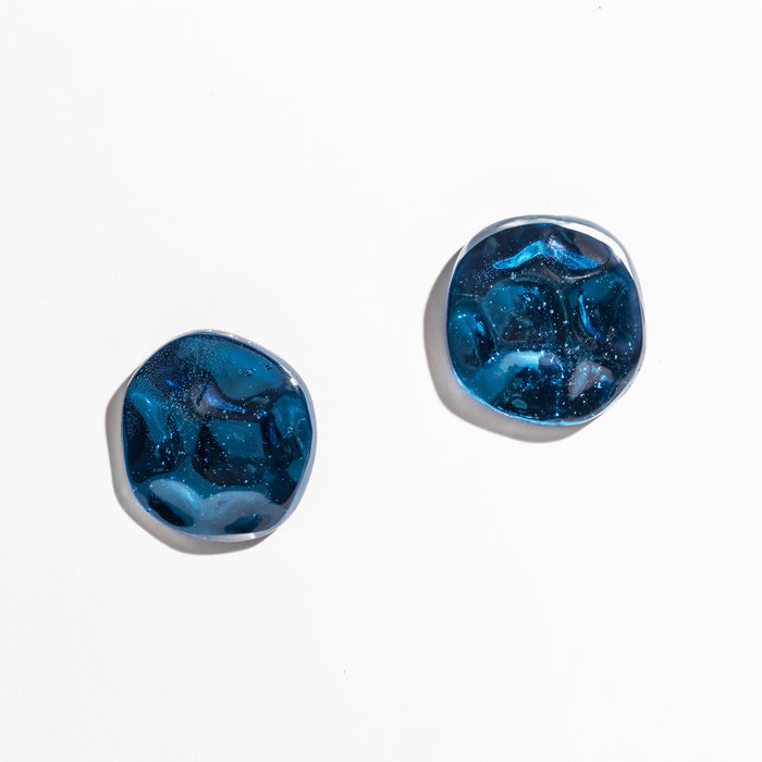 Julie Thevenot Small Reverberation Earrings Electric Blue
