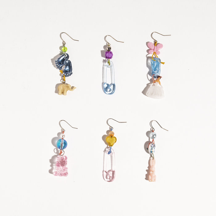 Aurelia Cotton Charm Earrings - Singles