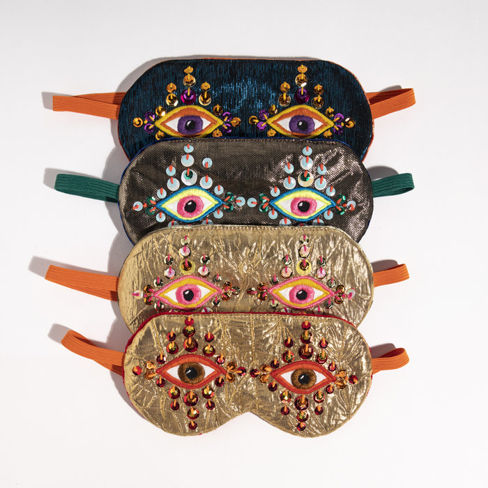 Maria Sandhammer Metallic Sleep Masks