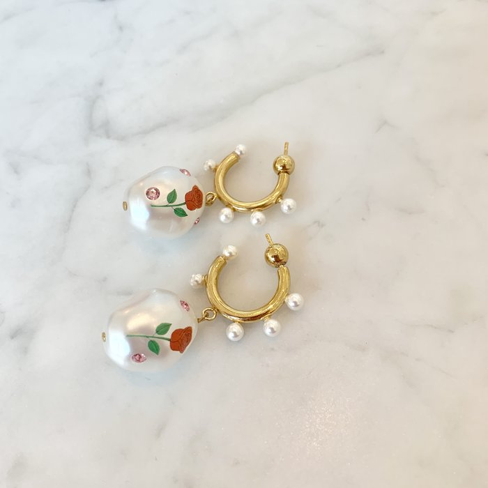SafSafu Jelly Bean Hoop Earrings