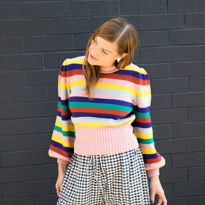 Rachel Antonoff Bridget Puff Sleeve Sweater