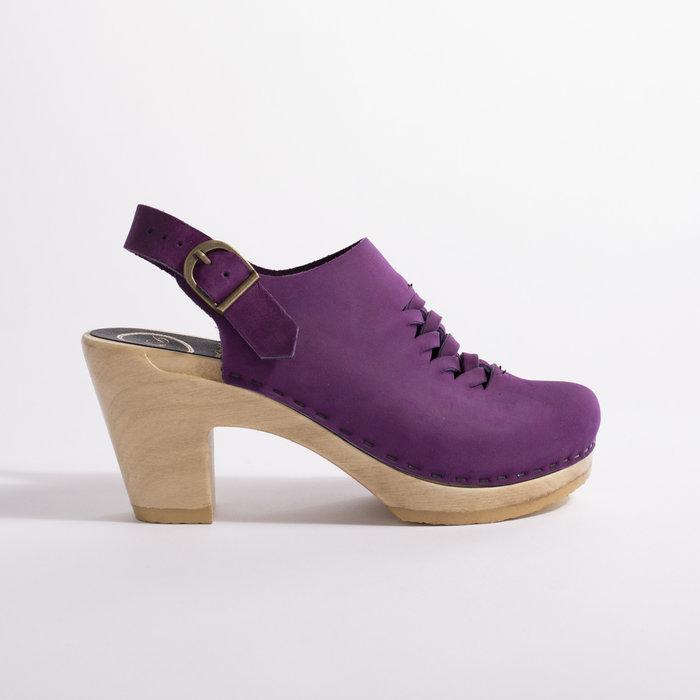 No. 6 Aimara Woven Clog on High Heel