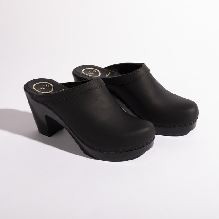 No. 6 Old School Clog on High Heel