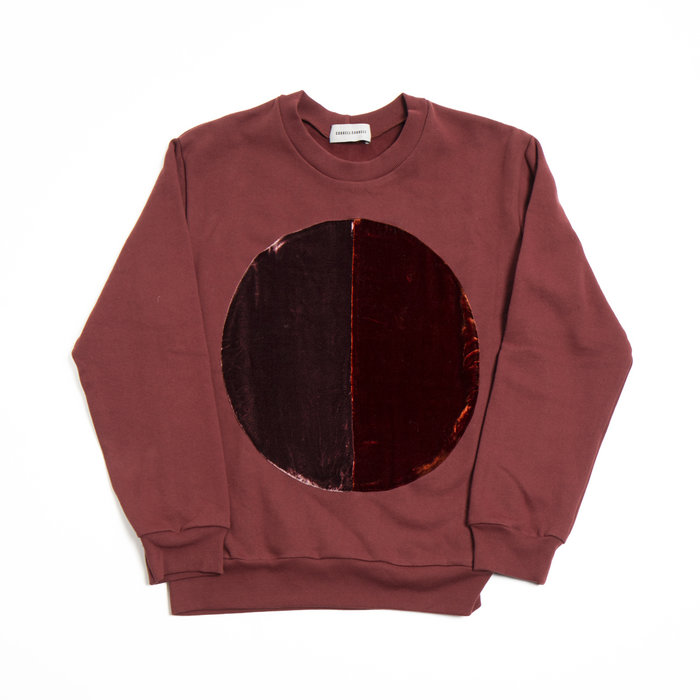 Correll Correll Two Tone Velvet Circle Sweatshirt