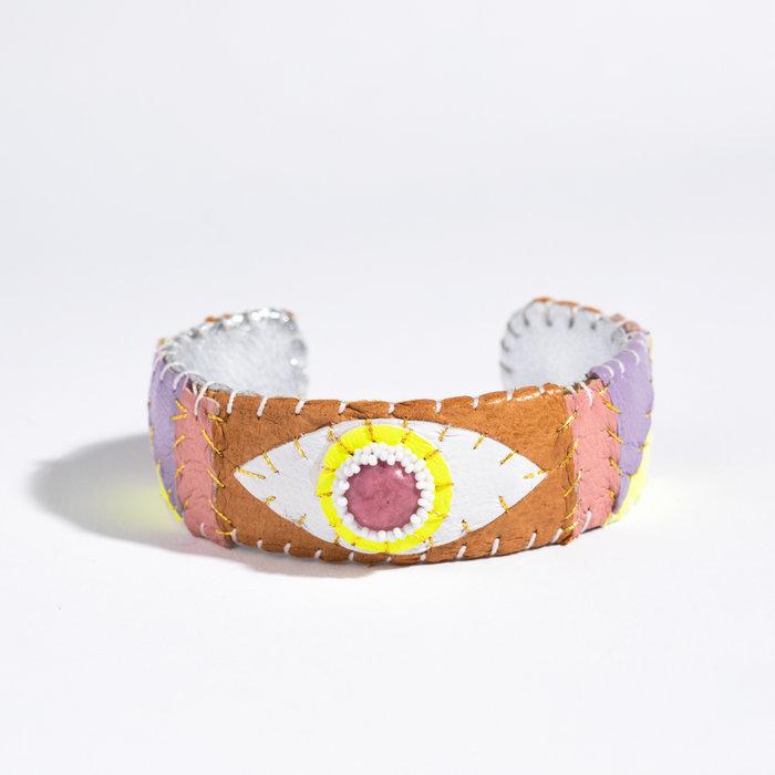 Robin Mollicone Eye Cuff - Rhodonite