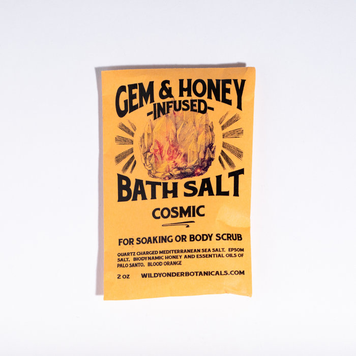 Wild Yonder Botanicals Gem & Honey Bath Salts - Cosmic