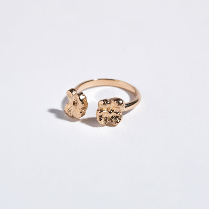 Saint Claude x Freda Double Primrose Ring - Brass