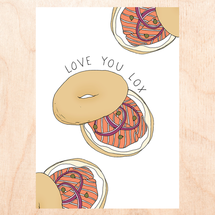 Fine Ass Lines Card - Love you Lox