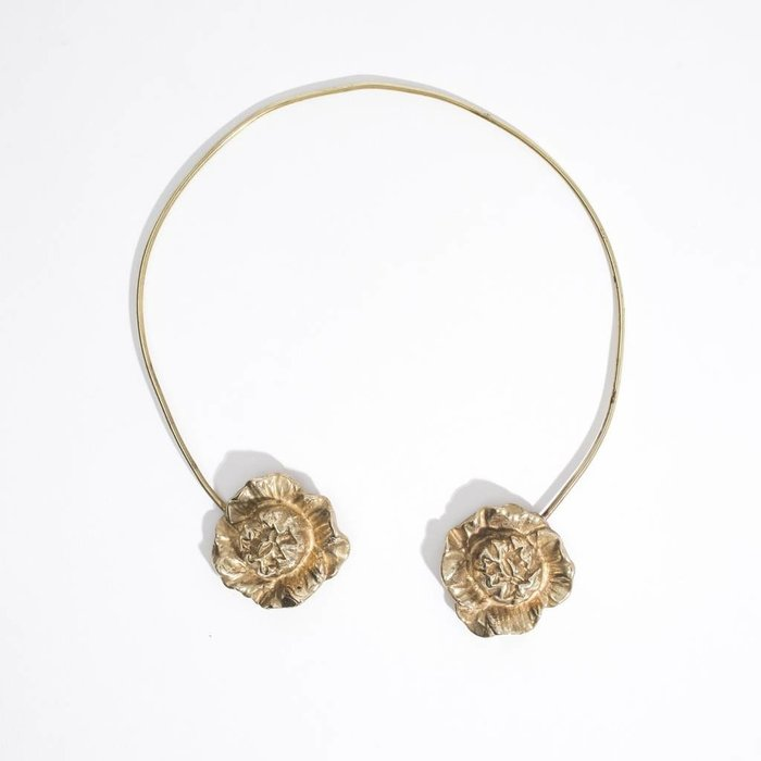 Saint Claude Cabbage Rose Open Collar